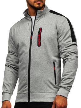 Bolf Herren Sweatshirt mit Reißverschluss Grau  JX9827