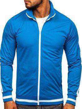 Bolf Herren Sweatshirt mit Reißverschluss retro style Blau  2126