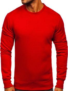 Bolf Herren Sweatshirt ohne Kapuze Dunkelrot  2001
