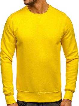 Bolf Herren Sweatshirt ohne Kapuze Gelb  2001