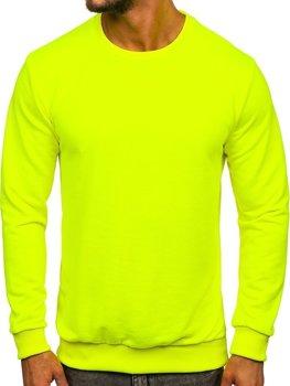 Bolf Herren Sweatshirt ohne Kapuze Gelb-Neon  171715