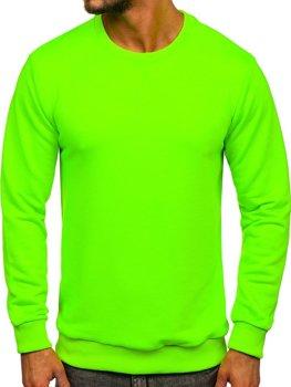Bolf Herren Sweatshirt ohne Kapuze Grün-Neon  171715