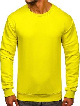 Bolf Herren Sweatshirt ohne Kapuze Hellgelb  171715