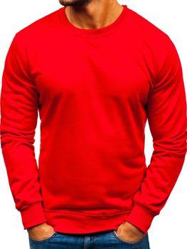 Bolf Herren Sweatshirt ohne Kapuze Rot  22003
