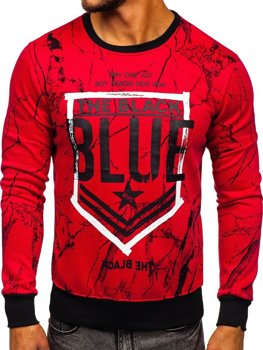 Bolf Herren Sweatshirt ohne Kapuze Rot  DD260