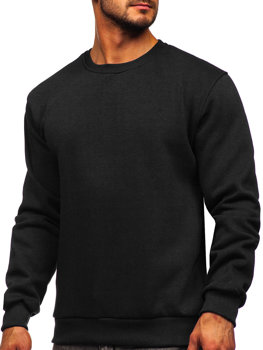 Bolf Herren Sweatshirt ohne Kapuze Schwarz  2001