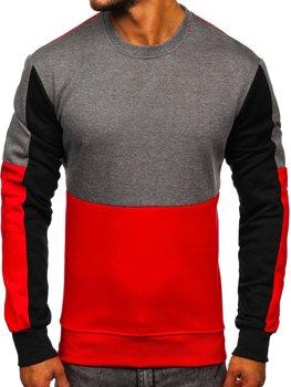 Bolf Herren Sweatshirt ohne Kapuze Schwarzgrau  KS2222