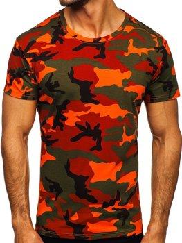 Bolf Herren T-Shirt Camo Grün-Orange  S807
