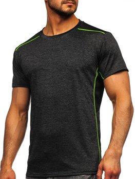 Bolf Herren T-Shirt Sportshirt Schwarz  HM075