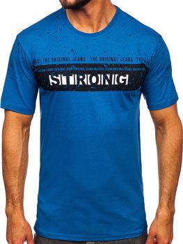Bolf Herren T-Shirt mit Motiv Blau  14204