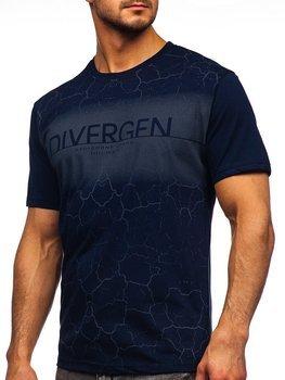 Bolf Herren T-Shirt mit Motiv Dunkelblau 14424