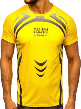 Bolf Herren T-Shirt mit Motiv Gelb  KS2062
