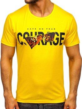 Bolf Herren T-Shirt mit Motiv Gelb KS2620