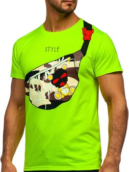 Bolf Herren T-Shirt mit Motiv Grün  KS2371