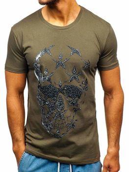 Bolf Herren T-Shirt mit Motiv Khaki  301