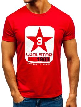Bolf Herren T-Shirt mit Motiv Rot  100729