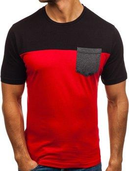 Bolf Herren T-Shirt mit Motiv Rot  6309