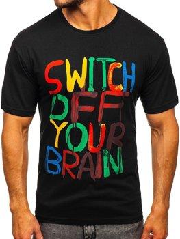 Bolf Herren T-Shirt mit Motiv Schwarz  1181