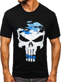 Bolf Herren T-Shirt mit Motiv Schwarz  2098