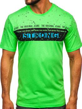 Bolf Herren T-Shirt mit Motiv Seladongrün  14204