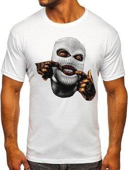 Bolf Herren T-Shirt mit Motiv Weiß 142172