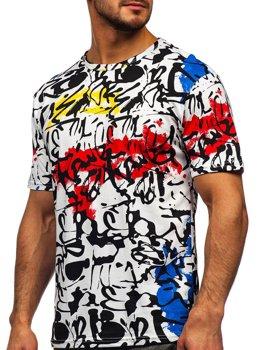 Bolf Herren T-Shirt mit Motiv Weiß 14901