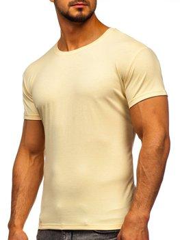 Bolf Herren T-Shirt ohne Motiv Beige  2005