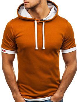 Bolf Herren T-Shirt ohne Motiv Camel  08