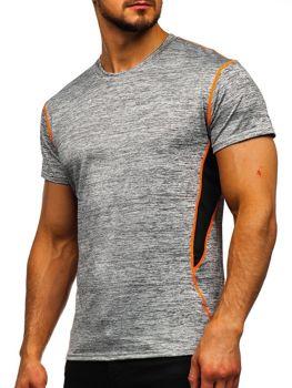 Bolf Herren T-Shirt ohne Motiv Grau KS2104