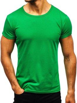 Bolf Herren T-Shirt ohne Motiv Grün  AK999A