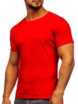 Bolf Herren T-Shirt ohne Motiv Hellrot  2005