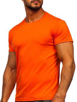 Bolf Herren T-Shirt ohne Motiv Orange  2005-32