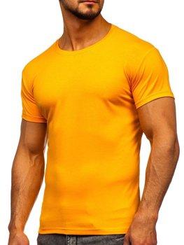 Bolf Herren T-Shirt ohne Motiv Orange  2005