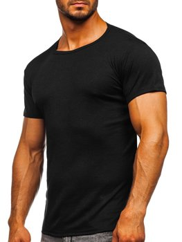 Bolf Herren T-Shirt ohne Motiv Schwarz  NB003