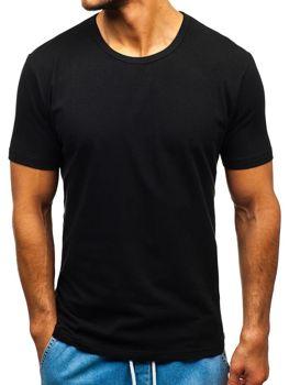Bolf Herren T-Shirt ohne Motiv Schwarz  T1280