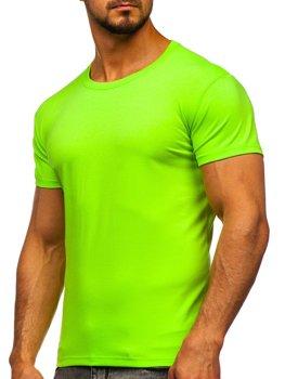 Bolf Herren T-Shirt ohne Motiv Seladongrün  2005
