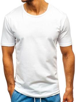Bolf Herren T-Shirt ohne Motiv Weiß  T1042