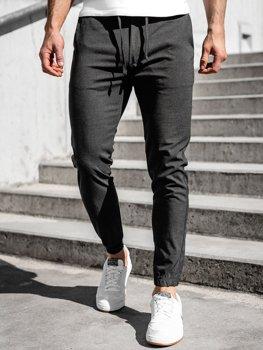 Bolf Herren Textil Hose Jogger Pants Schwarzgrau  0011