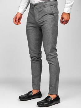Bolf Herren Textilhose Chino Hose Grau 0016