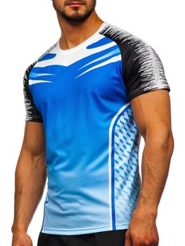 Bolf Herren Trekking Shirt Blau  KS2059