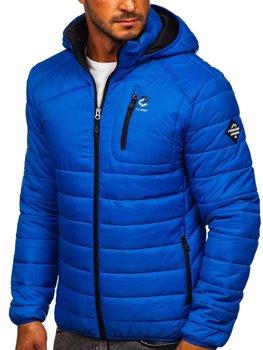 Bolf Herren Übergangsjacke Sport Jacke mit Steppmuster Blau  BK031