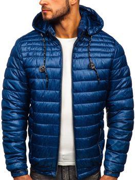 Bolf Herren Übergangsjacke Sport Jacke mit Steppmuster Dunkelblau  50A411