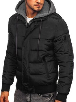 Bolf Herren Übergangsjacke Sport Jacke mit Steppmuster Schwarz  JK386