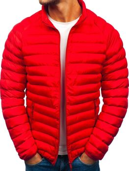 Bolf Herren Winterjacke Sport Jacke Rot  SM53-A
