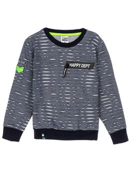 Bolf Jungs Sweatshirt ohne Kapuze Dunkelblau  HB1963