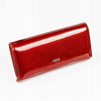 Damen Ledergeldbörse Rot 887