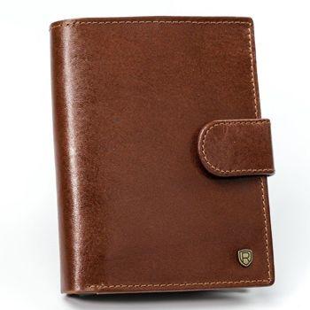 Herren Leder Geldbörse Braun 923