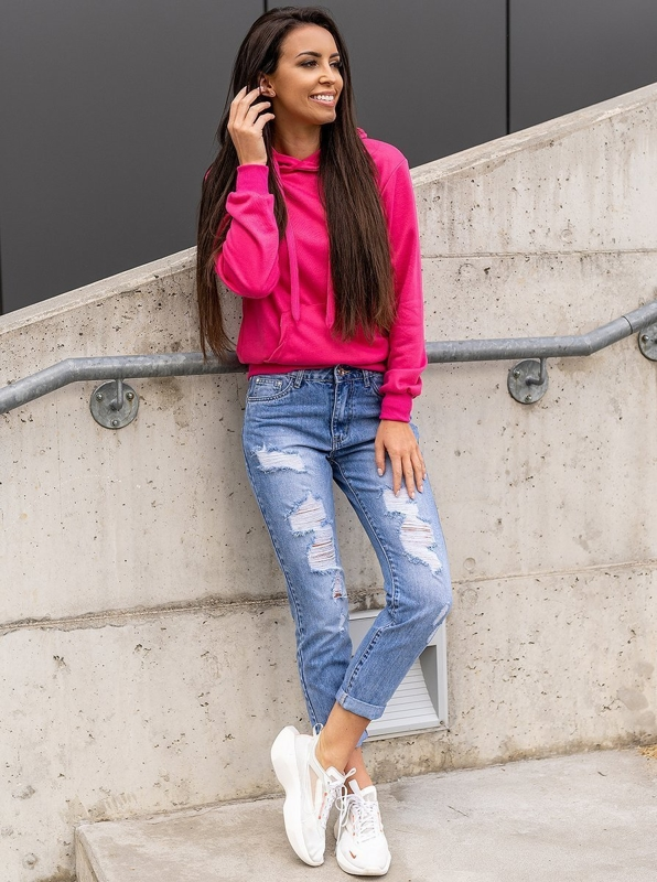 Bolf Damen Jeanshose Boyfriend  Blau  DM9601