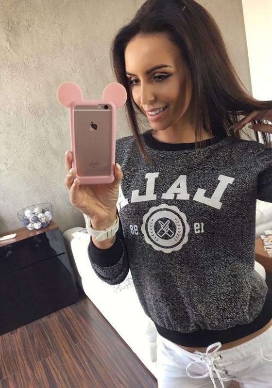 Bolf Damen Sweatshirt ohne Kapuze Schwarz 7258