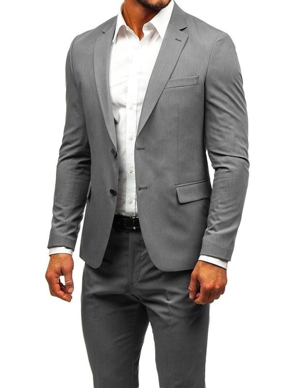 Bolf Herren Anzug Grau  19200